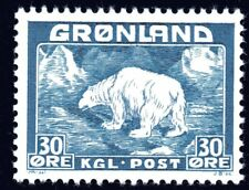 Greenland 1938 30 Ore Polar Bear Mint Unhinged