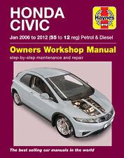 Honda Civic Haynes Manual Mk8 2006 to 2012