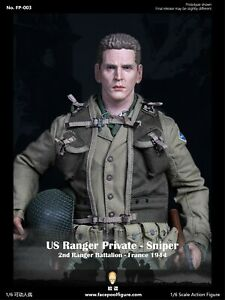 In-stock 1/6 Facepool US Ranger Private – Sniper France 1944 FP003A