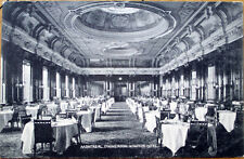 1908 Montreal Postcard: Windsor Hotel Dining Room Interior - Quebec, Canada