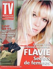 TV magazine 31/05/2009 FLAVIE FLAMENT jean claude narcy obama