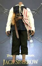 Hot Toys DX06 Pirates of Caribbean Jack Sparrow 1/6 Scale Body Cloth Pants Belt