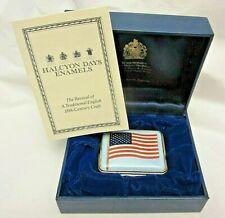 Halcyon Days Enamel Box American Flag God Bless America 9-11-01