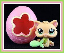 Littlest Pet Shop AUTHENTIC YELLOW KITTEN CAT #1649 Egg House EASTER ~ GIFT BAG!