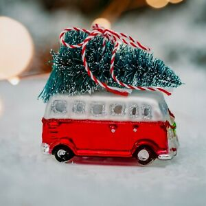 Sass & Belle Camper Van with Christmas Tree Bauble - Brand New