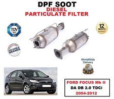 DPF DIESEL SOOT PARTICULATE FILTER for FORD FOCUS Mk II DA DB 2.0 TDCi 2004-2012