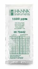 Hanna Instruments 1500 PPM TDS Solution HI70442 20ml Sachet 3 pk -tds meter