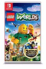 LEGO WORLDS NINTENDO SWITCH WITH 2 BONUS PACKS NEW! GALAXY BRICKS MASTER BUILDER