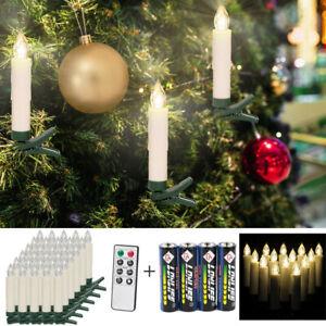 RGB LED Weihnachtskerzen Kabellos Lichterkette Christbaum Dekor Kerzen licht FB