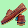 Timberland Men's Moccasin Shoes Size Uk 7 Brown Leather Lace Up 2 Eye EUR 40.5