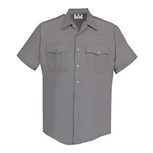 Men's ~FLYING CROSS X95R6651 Short Sleeve Gray Police Shirt~ Size XS - NEW