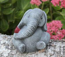 Steinfigur Elefant Dekofigur Tierfigur Gartenfigur Skulptur Steinguss frostfest
