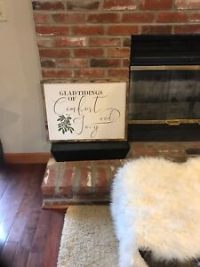Farmhouse Comfort And Joy Sign