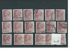 GB - WHOLESALE - MACHIN DEFINITIVES - MA157.  5p CLARET - 18  COPIES - USED