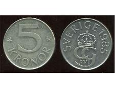 SUEDE  5 kronor 1985