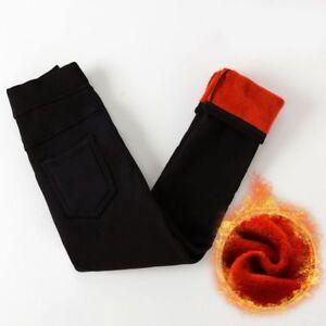Girls Leggings Velvet Thicken Warm Long Trousers For Winter Kids Baby Pants B