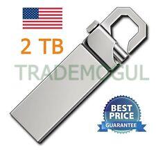 2TB 2T USB 2.0 Memory Silver Hook Flash Drive! USA SELLER!