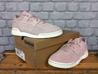 REEBOK LADIES UK 4 EU 37 WORKOUT LO PLUS PALE PINK SUEDE TRAINERS RRP £60