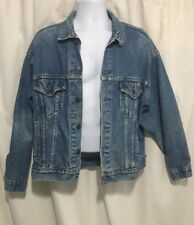 Vintage Levi's Size XL Red Tab Blue Jean Jacket 70507-0216 Trucker Made In USA