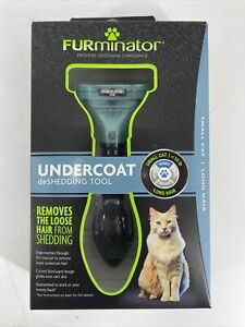 GENUINE FURminator Undercoat deShedding Tool for Small Cats <10lb Long Hair 9275