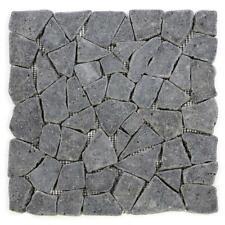 Divero 1 matte 30x30cm Andesit Stein Mosaik Fliesen Wand Boden Bruchstein grau