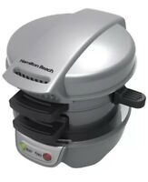 NEW Hamilton Beach® - Breakfast Sandwich Maker - Silver