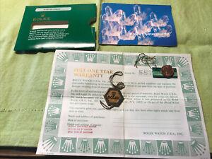 "Rolex 1978 USA ""Rolex Oyster Quartz"" Booklet; Guarantee paper ;tags;holder.Set❗️"