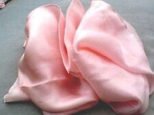 "INDIAN 100% PURE SILK HANDMADE LONG PLAIN PEACH SCARF10""/25cm.x70""/180cm £9.50"