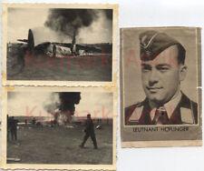 Q662 Fotos Wehrmacht Luftwaffe Flugzeug crash Leutnant Höflinger RKT 9./ K.G.77