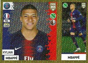 Panini Fifa 365 2019 Kylian Mbappe gold foil sticker No 157