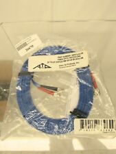 Allen Tel GBST2-D3-05 Fiber Optic Cable Assembly Patch Cord, 5 M, Blue Jacket