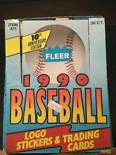 2 Box Lot of 1990 Fleer Baseball Wax Box