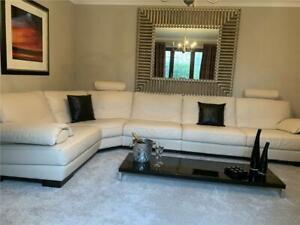 Natuzzi Plaza Leather Corner Sofa