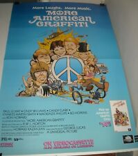 ROLLED MORE AMERICAN GRAFFITI VIDEO 1 SHEET MOVIE POSTER GEORGE LUCAS RON HOWARD