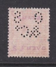 Gb Perfin Os&Co 2d George Vi used Vgc
