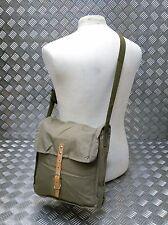 Genuine Vintage Eastern Bloc Cotton Canvas Shoulder / Bread / Gas Messenger Bag