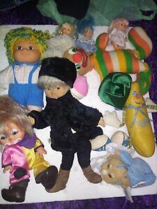 Stock Bambole Bambola Pagliaccio Fiba Go R Vintage Peluche mini doll