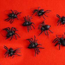 8 ragni ragnetti finti plastica decorazione Halloween