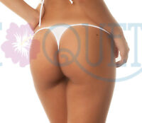 COQUETA women's mini Thong WHITE playa hot swimsuit Cheeky Bikini sexy bottom