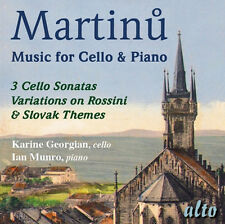 CD MARTINU CELLO & PIANO WORKS THREE SONATAS VARIATIONS SLOVAK FOLK SONG ROSSINI