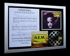 R.E.M / REM Losing My Religion LTD Nod CD FRAMED DISPLAY+EXPRESS GLOBAL SHIPPING