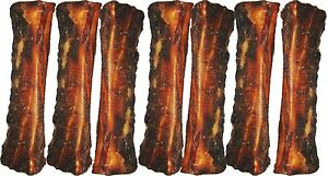 "Jones Gourmet Dog Chews 7"" Meaty Center Beef Femur Bones USA 7 Pack #7x00633"