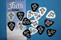 Graphic Picks Faith Guitar Picks, 12 Picks per Pack, Medium Gauge, MPN GP-F