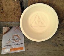 Gärkorb Gärkörbchen Holzschliff rund für 1,0 kg Brote mit Bodenmuster Celtic, in
