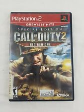 Call of Duty 2 Big Red One Playstation 2 PS2 Original Case