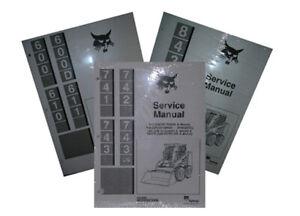 BOBCAT 600 600D 610 & 611 SKID STEER SERVICE MANUAL NEW