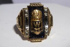 By Josten INDIANA West 10K Gold Ring 1969 C R Chief Head High School Estate