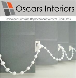 """Unicolour Welded Made to Measure Replacement Vertical Blind Slats 3.5"""" & 5"""" <"""