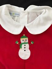 Petit Pomme NWOT Red Corduroy Snowman Outfit - 24 Months
