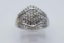 14K White Gold Amazing 0.74 Ct Diamond Lady Ring - Band Size 6.75 #1164